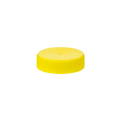 38/400 Yellow Polypropylene Unlined Ribbed Cap
