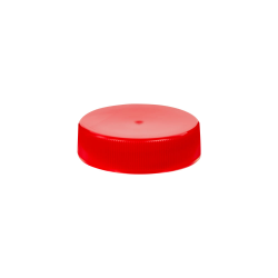 38/400 Red Polypropylene Unlined Ribbed Cap