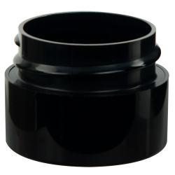 Straight Sided Double Wall Black Jars