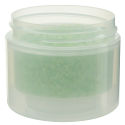 2 oz. Natural Polypropylene Straight Sided Double Wall Jar with 58/400 Neck (Cap Sold Separately)
