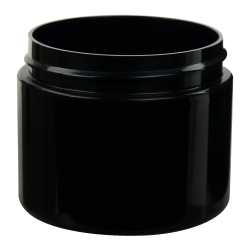 2 oz. Straight Sided Double Wall Black Jar with 58/400 Neck (Cap Sold Separately)