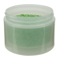4 oz. Natural Polypropylene Straight Sided Double Wall Jar with 70/400 Neck (Cap Sold Separately)