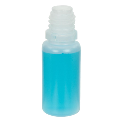 10mL Natural LDPE Boston Round CRC E-Liquid Bottle with 13/415 Neck (Cap Sold Separately)