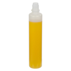 60mL Natural LDPE Slim Cylinder CRC E-Liquid Bottle with 13/415 Neck (Cap Sold Separately)