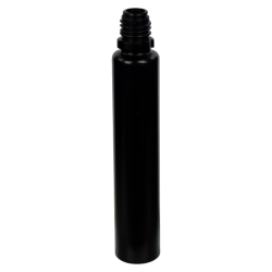 30mL Black LDPE Slim Cylinder CRC E-Liquid Bottle (Cap Sold Separately)