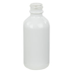 60mL Shiny White E-Liquid Boston Round Glass Bottle with 20/400 Neck (Cap Sold Separately)