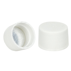 24/410 White Cap with Foil Induction Seal
