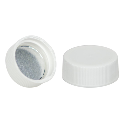 28/400 White Cap with Foil Induction Seal