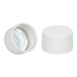 28/410 White Cap with Foil Induction Seal