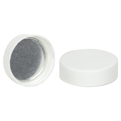 38/400 White Cap with Foil Induction Seal