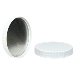 110/400 White Cap with Foil Induction Seal