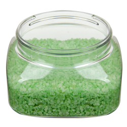 8 oz. Clear PET Firenze Square Jar with 70/400 Neck (Cap Sold Separately)