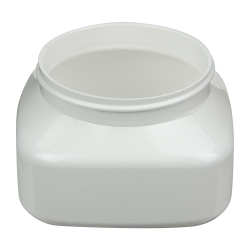 8 oz. White PET Firenze Square Jar with 70/400 Neck (Cap Sold Separately)