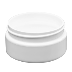 2 oz. White PET Straight Sided Jar with 58/400 Neck (Cap Sold Separately)