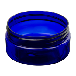 2 oz. Cobalt Blue PET Straight Sided Jar with 58/400 Neck (Cap Sold Separately)