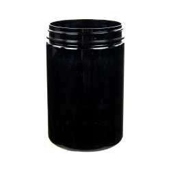 25 oz. Black PET Straight Sided Jar with 89/400 Neck (Cap Sold Separately)