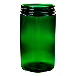 32 oz. Dark Green PET Jar with 89/400 Neck (Cap Sold Separately)