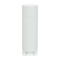 .15 oz. White Oval Lip Balm Tube with Cap