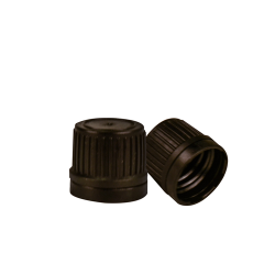 18mm Black Tamper Evident Cap for EO Bottles