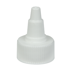 24/400 White Twist Open/Close Cap with White Tip