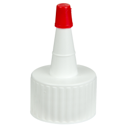 28/410 White Yorker Spout Cap with Regular Red Tip