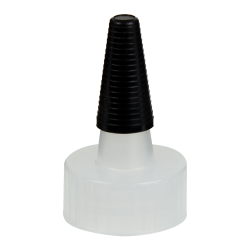 24/400 Natural Yorker Spout Cap with Long Black Tip