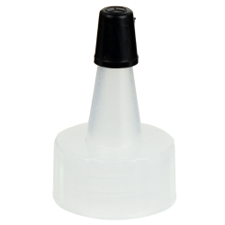 20/400 Natural Yorker Spout Cap with Regular Black Tip