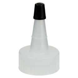 24/400 Natural Yorker Spout Cap with Regular Black Tip