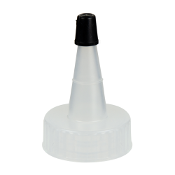 28/400 Natural Yorker Spout Cap with Regular Black Tip