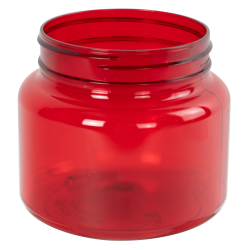 22 oz. Red PET Jar with 89mm Neck (Cap Sold Separately)