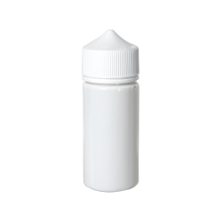 100mL Opaque White PET Unicorn Bottle with White CRC/TE Cap