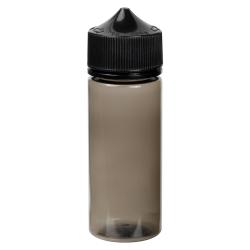 75mL Transparent Black PET Stubby Unicorn Bottle with Black CRC/TE Cap