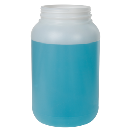 1 Gallon Natural HDPE Jar with Labe Panel & 110/400 Neck (Caps sold separately)