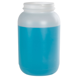 1 Gallon Natural HDPE Jar with 110/400 Neck (Caps sold separately)