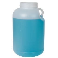 1 Gallon Natural HDPE Jar with Handle & 89/400 Neck (Caps sold separately)