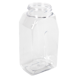 16 oz. Clear PET Oblong Spice Jar with 53/485 Neck (Cap Sold Separately)