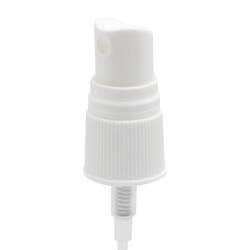 18/415 White Ribbed Finger Sprayer - 4-5/8