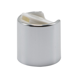 24/410 Silver & White Disc Dispensing Cap