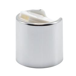 28/410 Silver & White Disc Dispensing Cap