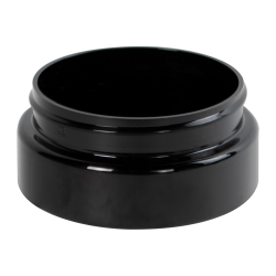 4 oz. Black PET Low Profile Jar with 70/400 Neck (Caps sold separately)