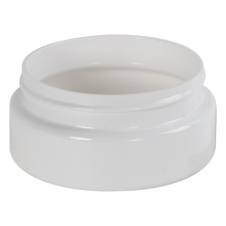 4 oz. White PET Low Profile Jar with 70/400 Neck (Caps sold separately)