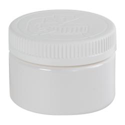 6 oz. White PET Low Profile Jar with White CRC Cap