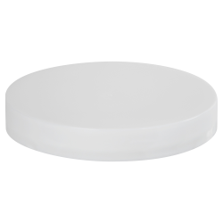 89/400 White Polypropylene Smooth Cap with PE Foam Liner