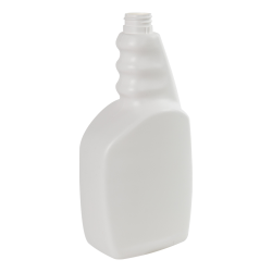 33 oz. White HDPE Trigger Bottle with 28/410 Ratchet Neck (Sprayer or Cap Sold Separately)