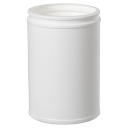 10 oz. White HDPE Canister (Lid Sold Separately)
