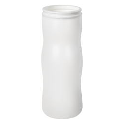 24 oz. White HDPE Peapod Canister (Lid Sold Separately)