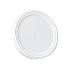 63mm White LLDPE Plain Snap Lid