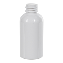 2 oz. White PET Traditional Boston Round Bottle with 20/400 & 410 Neck (Cap Sold Separately)