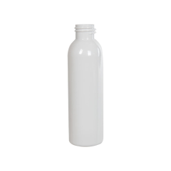 4 oz. White PET Cosmo Round Bottle with 24/410 Neck (Cap Sold Separately)