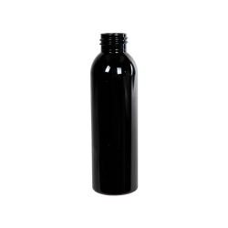 4 oz. Black PET Cosmo Round Bottle with 24/410 Neck (Cap Sold Separately)
